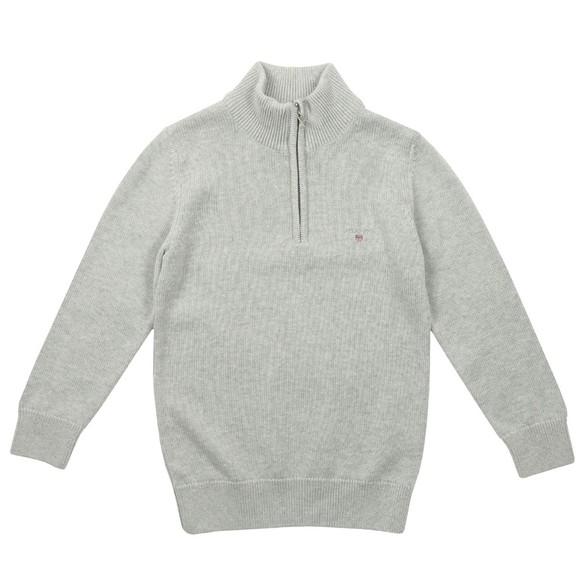 Gant Boys Grey Boys Casual Cotton Half Zip Jumper main image