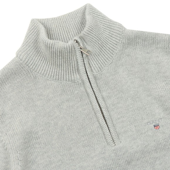 Gant Boys Grey Boys Casual Cotton Half Zip Jumper
