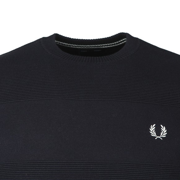 Fred Perry Mens Blue Textured Jumper main image