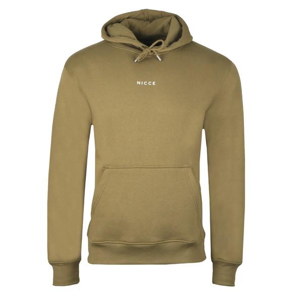 Nicce Mens Green Mini Logo Hooded Sweatshirt main image