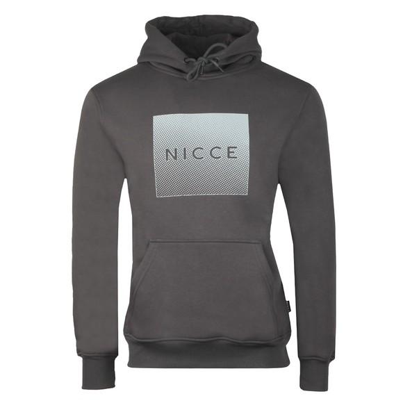 Nicce Mens Grey Rhombus Hooded Sweatshirt