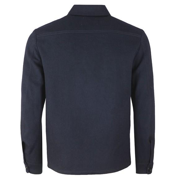 J.Lindeberg Mens Blue Flat Wool Overshirt main image