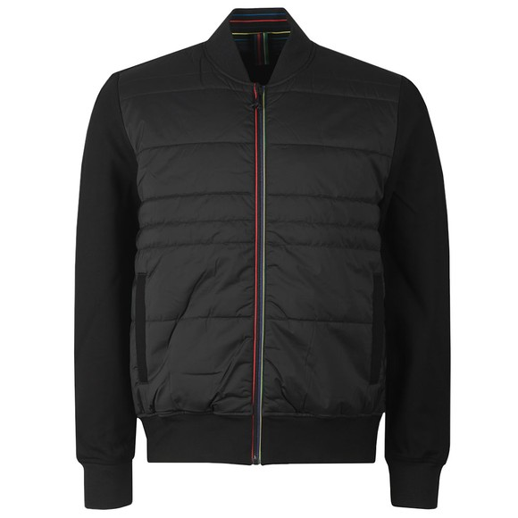 PS Paul Smith Mens Black Mixed Media Bomber
