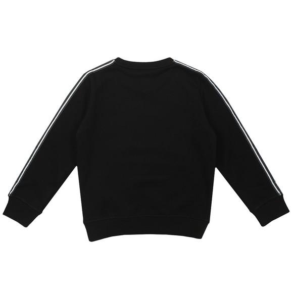 EA7 Emporio Armani Boys Black Tape Sleeve Sweatshirt main image