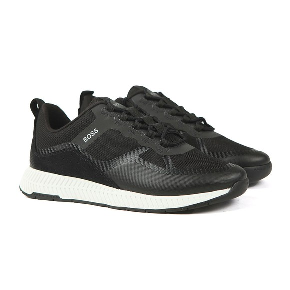 BOSS Mens Black Athleisure Titanium MEMX Runner