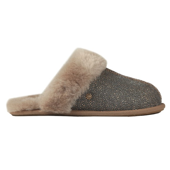 Ugg Womens Black Scuffette II Caviar Slipper