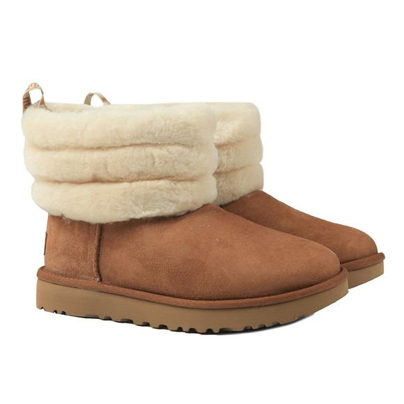 Ugg Womens Brown Fluff Mini Quilted Boot