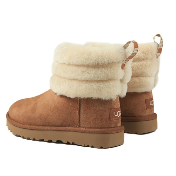 Ugg Womens Brown Fluff Mini Quilted Boot main image