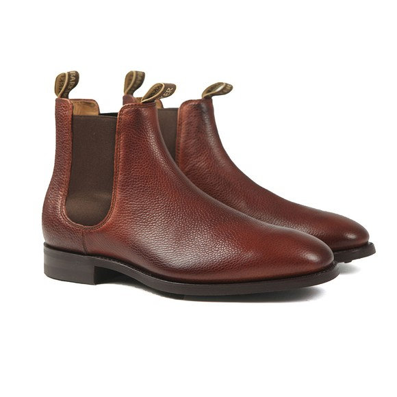 Barker Mens Red Mansfield Boot
