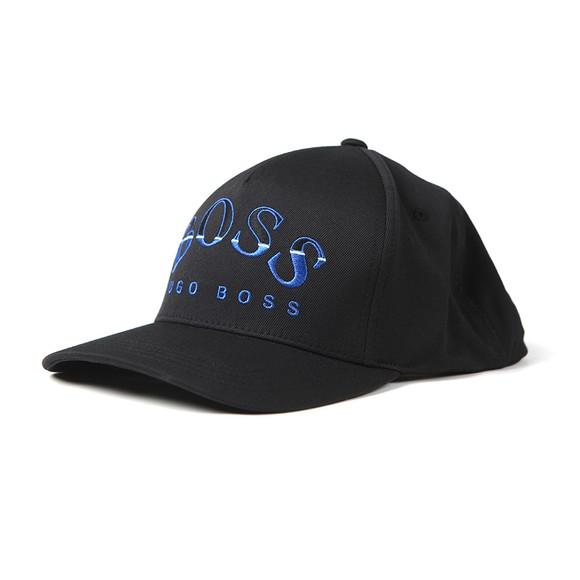 BOSS Mens Black Curved Logo Cap