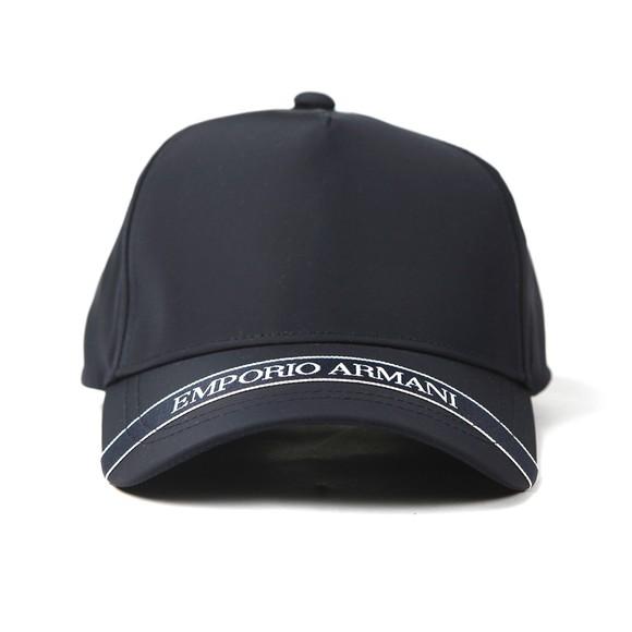 Emporio Armani Mens Blue Tape Logo Cap