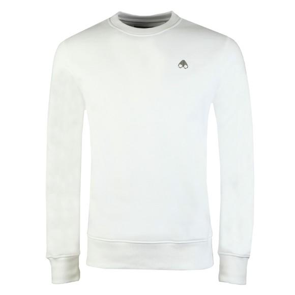 Moose Knuckles Mens White Robinson Sweatshirt