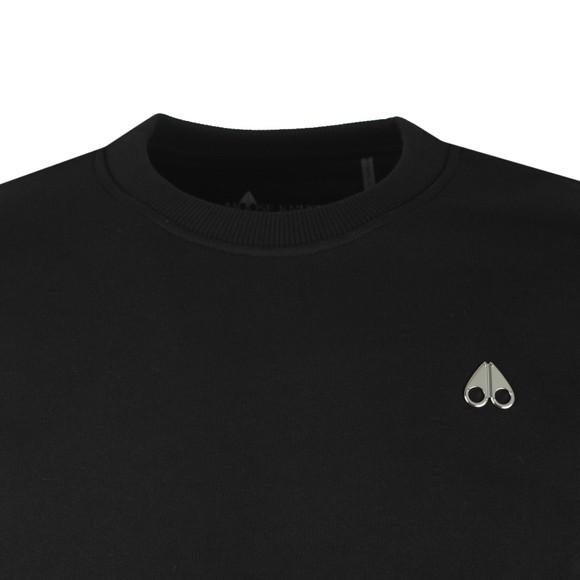 Moose Knuckles Mens Black Robinson Sweatshirt