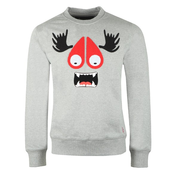Moose Knuckles Mens Grey Moose Munster Sweatshirt