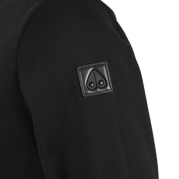 Moose Knuckles Mens Black Moose Munster Sweatshirt
