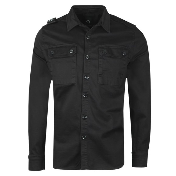 Ma.Strum Mens Black Two Pocket Shirt