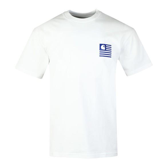 Carhartt WIP Mens White Waving State Flag T-Shirt