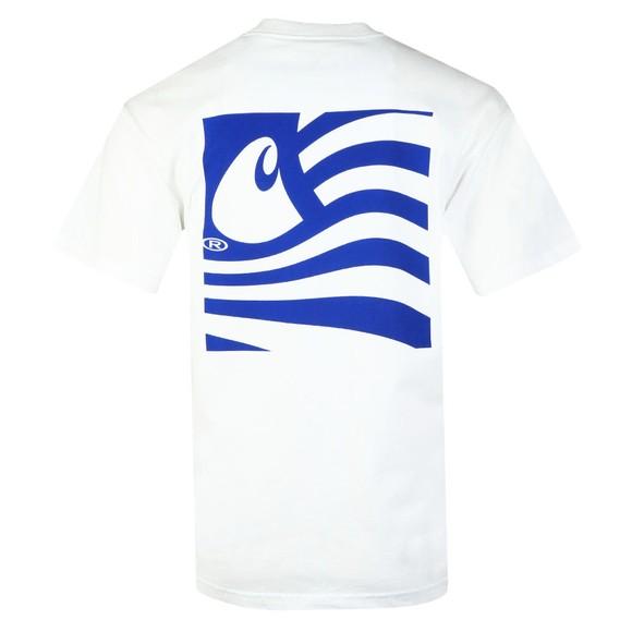 Carhartt WIP Mens White Waving State Flag T-Shirt main image