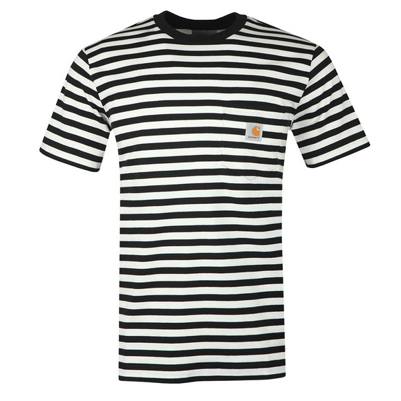 Carhartt WIP Mens Black S/S Parker Pocket T-Shirt main image