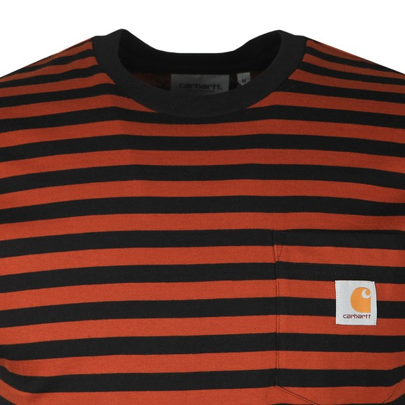 Carhartt WIP Mens Brown S/S Parker Pocket T-Shirt