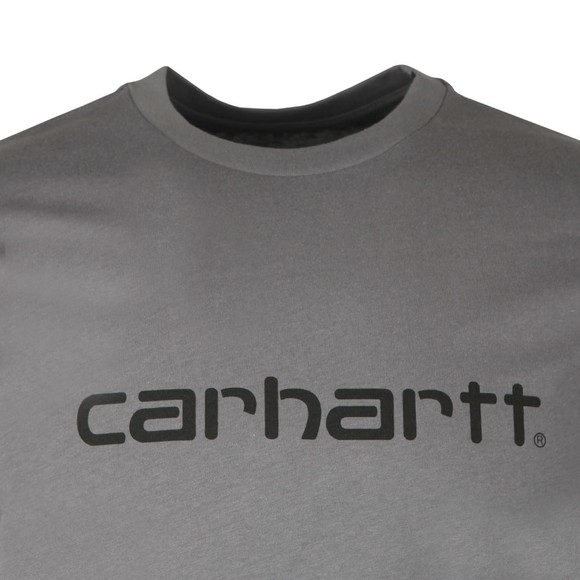 Carhartt WIP Mens Grey Script T-Shirt