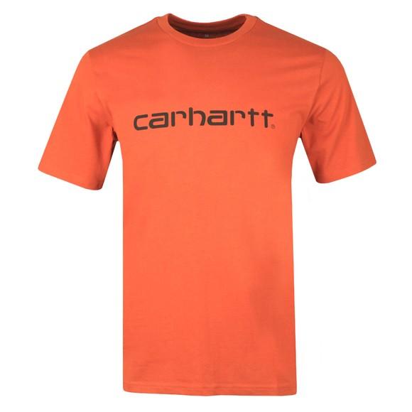 Carhartt WIP Mens Brown Script T-Shirt
