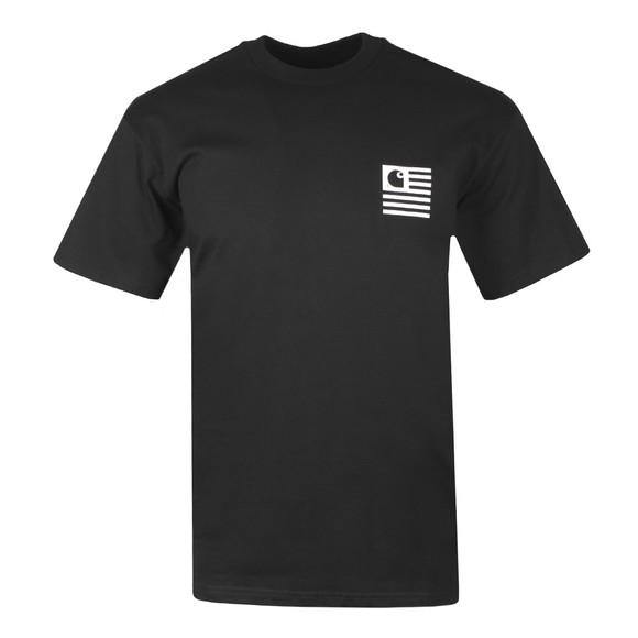 Carhartt WIP Mens Black Waving State Flag T-Shirt