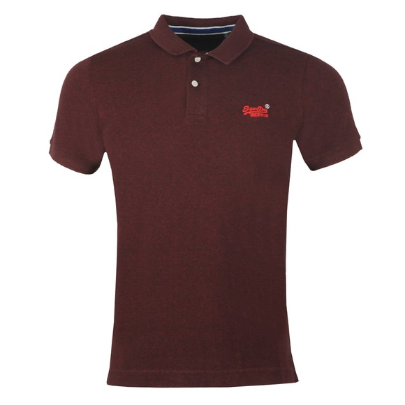 Superdry Mens Purple Classic Pique Polo Shirt