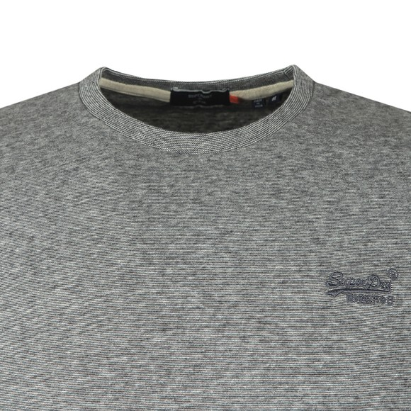 Superdry Mens Grey OL Vintage Emb LS Top