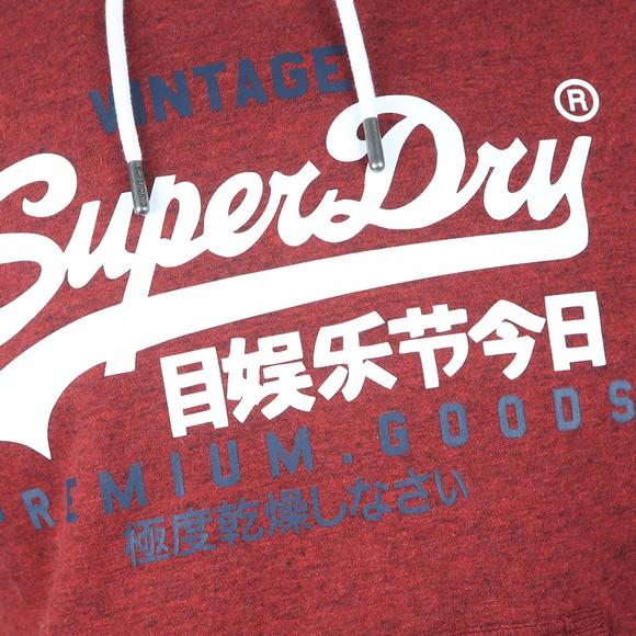 Superdry Mens Red VL Duo Hoody