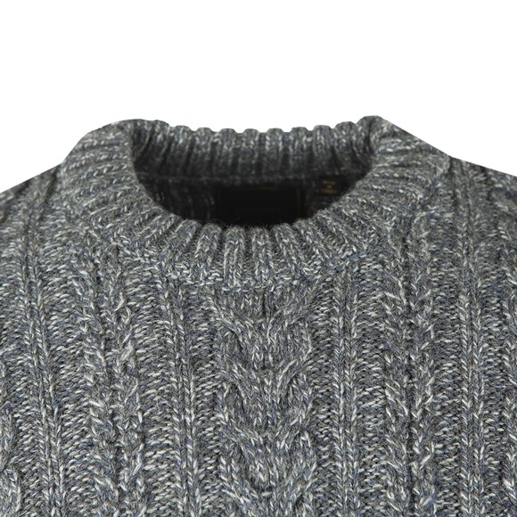 Superdry Mens Grey Jacob Cable Jumper main image
