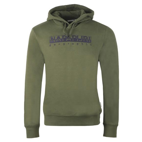 Napapijri Mens Green Beble Hooded Sweatshirt