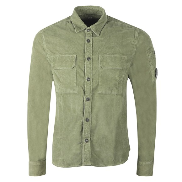 C.P. Company Mens Green Cord Shirt