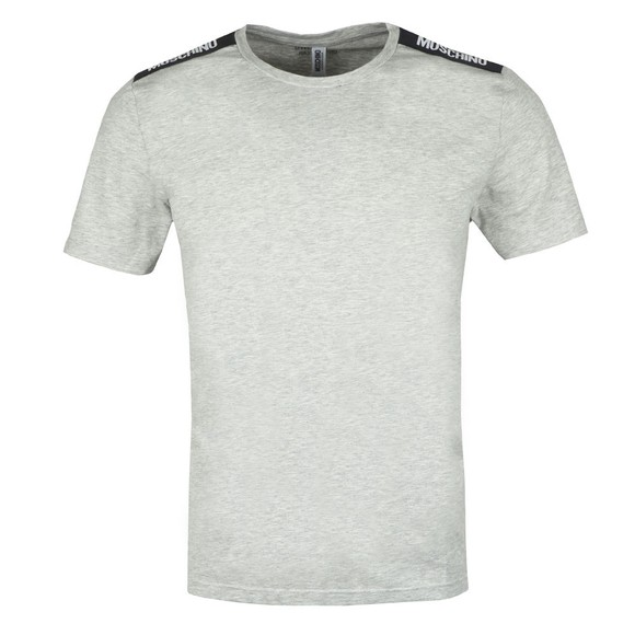 Moschino Mens Grey Tape T-Shirt