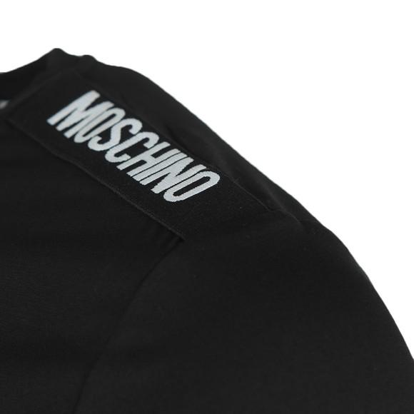 Moschino Mens Black Long Sleeve Tape T-Shirt