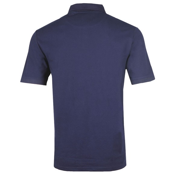Lyle and Scott Mens Blue Trio Geo Panel Polo Shirt main image