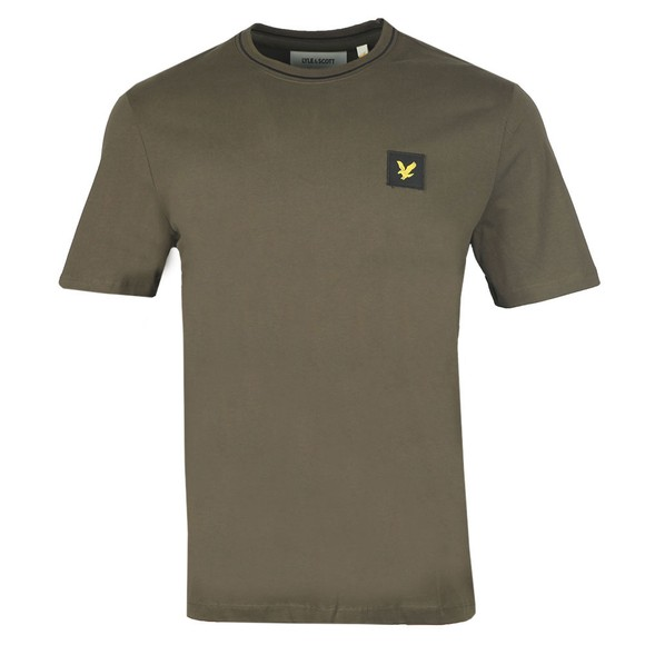 Lyle and Scott Mens Green Tipped T-Shirt