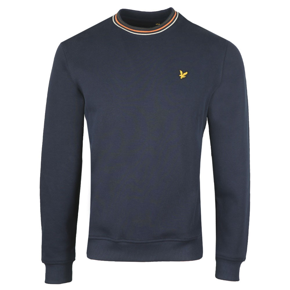 Pique Sweatshirt with Tipping main image