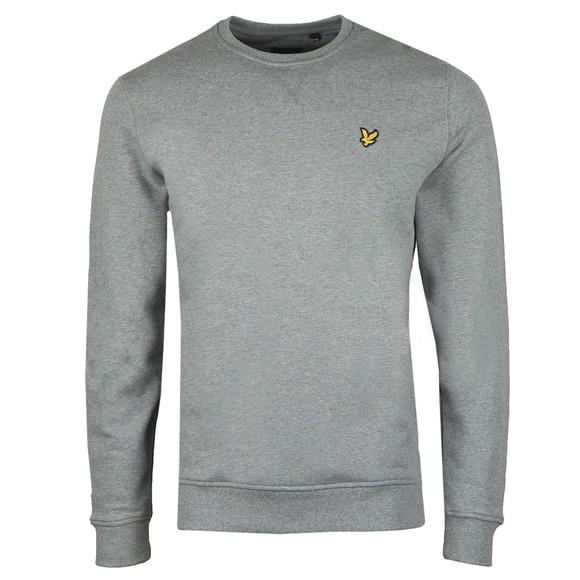 Lyle and Scott Mens Grey Crew Neck Sweatshirt