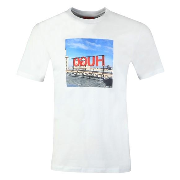 HUGO Mens White Dus T Shirt