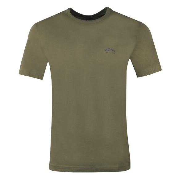 BOSS Mens Green Athleisure Curved T-Shirt