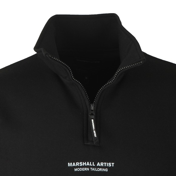 Marshall Artist Mens Black Half Zip Siren Sweatshirt main image