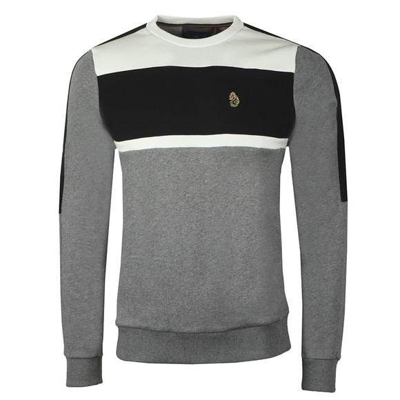 Luke Sport Mens Grey Badsey Sport Tape Sweatshirt