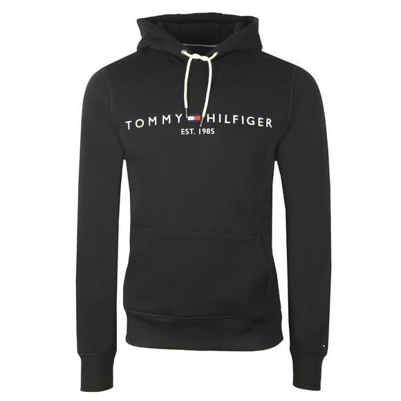 Tommy Hilfiger Mens Black Logo Hoodie
