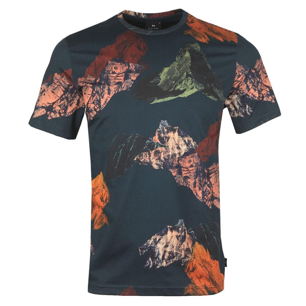 Mountains Print T-Shirt main image