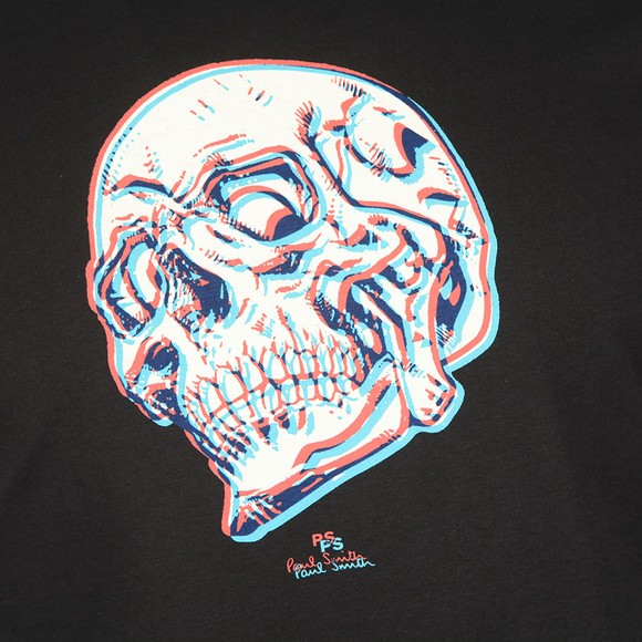 PS Paul Smith Mens Black Skull T-Shirt