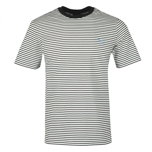 PS Paul Smith Mens Black Scrib Zebra Stripe T-Shirt