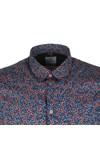 PS Paul Smith Mens Blue SS Slim Print Shirt