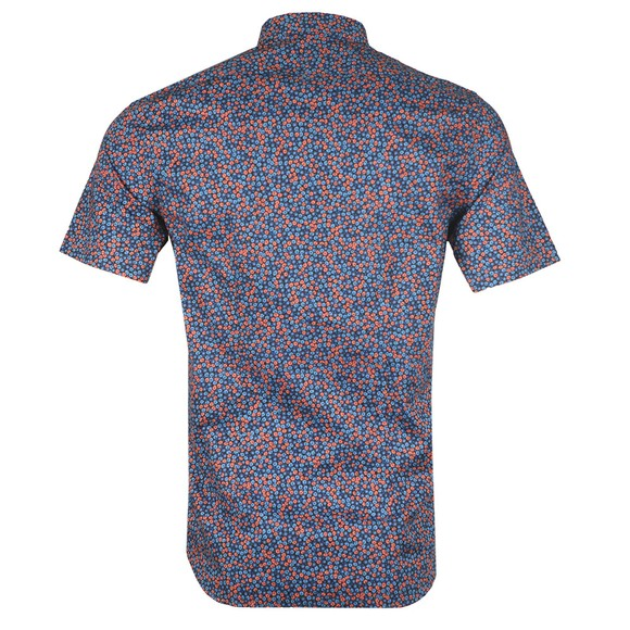 PS Paul Smith Mens Blue SS Slim Print Shirt main image