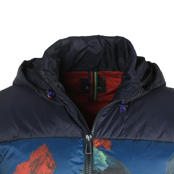 PS Paul Smith Mens Blue Down Hooded Jackets